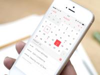 iOS 7 Calendar App Redesign by Kyle Craven