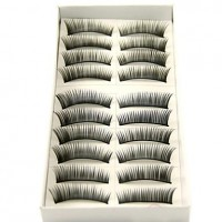 10 Pairs Per Box - Long, Curved Fashion Lashes With Added Volume 1088# - makeupsuperdeal.com