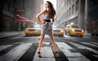 Female Wallpaper City, Girl, New York, shopping 2560x1600 - Jootix