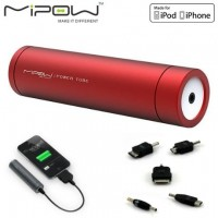 Batterie externe Power Tube 2200 Rouge pour iPhone 4/4S