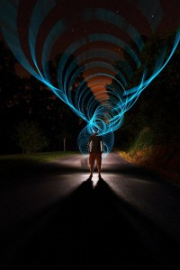 Super Rad Light Painting by Dennis Calvert | Abduzeedo | Graphic Design Inspiration and Photoshop Tutorials