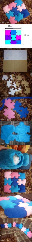DIY Puzzle Pillows DIY Projects | UsefulDIY.com