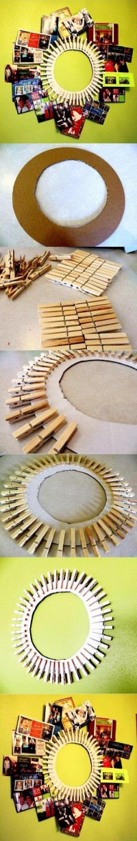 DIY Clothespin Picture Frame DIY Projects | UsefulDIY.com