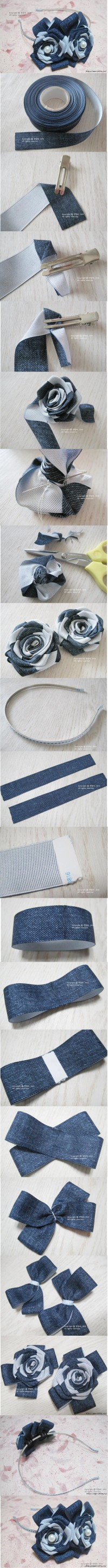 DIY Herringbone Ribbon Roses DIY Projects | UsefulDIY.com