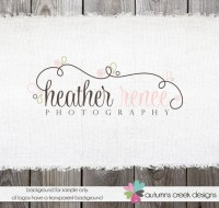 Photography Logo Premade Floral Swirls Logo and by autumnscreek