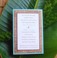 Bamboo Invitation by CoutureBeachInvites on Etsy