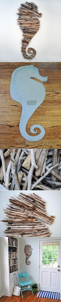 DIY Tree Branch Seahorse DIY Projects | UsefulDIY.com