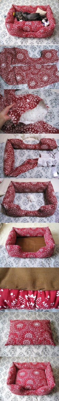 DIY Fabric Pet Sofa DIY Projects | UsefulDIY.com