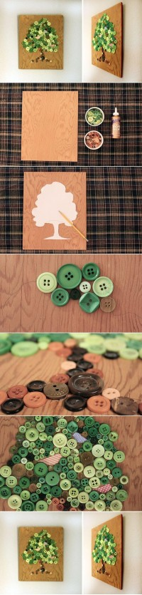 DIY Button Tree Panel DIY Projects | UsefulDIY.com