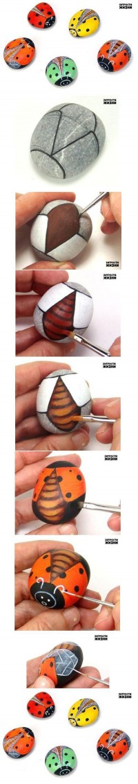 DIY Painted Stone Ladybug DIY Projects | UsefulDIY.com
