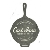 Designspiration — Cast Iron Design Company Logo Stamp
