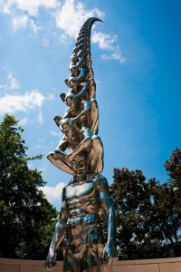 Karma: A Tower of Blinded Men Rising into the Sky by Do Ho Suh | Colossal