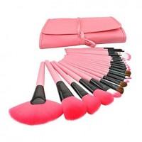 Special Makeup Brushes With Pink Bag (24 Pcs) - makeupsuperdeal.com