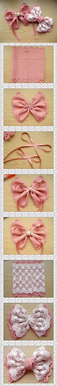 DIY Easy Lace Bow DIY Projects | UsefulDIY.com