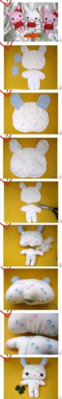 DIY Cute Fabric Bunny DIY Projects | UsefulDIY.com