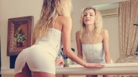 blondes women mirrors ass white dress tight dress bend over lizzie t models High Quality Wallpapers,High Definition Wallpapers