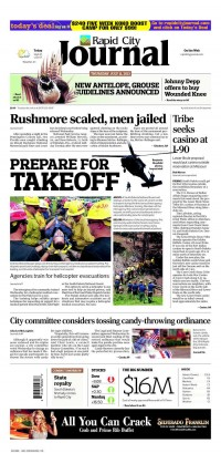 Newseum   Today's Front Pages   Rapid City Journal