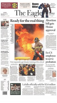 Newseum   Today's Front Pages   The Eagle
