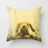 Fluffy puppy Throw Pillow by pascal+ | Society6