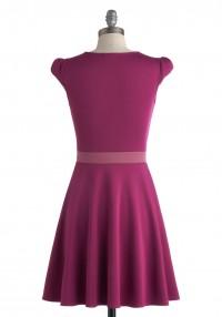 Vivacious and Vibrant Dress in Magenta | Mod Retro Vintage Dresses | ModCloth.com