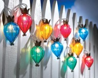 Teardrop Outdoor String Lights - contemporary - outdoor lighting - Collections Etc.