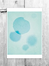Abstract Circles Wall Art Digital Print Turquoise by revigorer