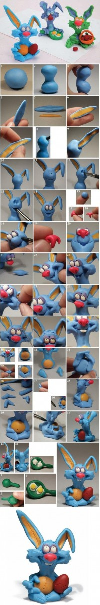 DIY Easter Clay Bunny DIY Projects | UsefulDIY.com