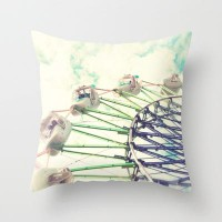 enjoy the ride Throw Pillow by Sylvia Cook Photography | Society6