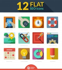 Free download: 12 Flat SEO icons | Webdesigner Depot