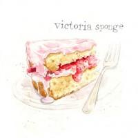 Teatime Treats & Classic Cakes on Illustration Served