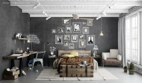 Industrial Bedrooms Interior Design | Interior Decorating, Home Design, Room Ideas