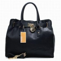 Michael Kors Handbags Hamilton Tote Black Patent Womens
