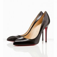 Red Bottom Christian Louboutin Chiara 100mm Leather Pumps Black