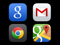 Google iOS 7 app icons (PSD) by Kubilay Sapayer