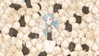 bunnies blue hair bunny ears anime girls - Wallpaper (#2031069) / Wallbase.cc