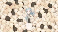 bunnies blue hair bunny ears anime girls - Wallpaper (#2031069) / Wallbase.cc