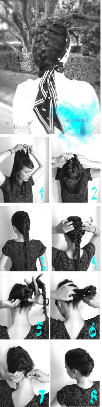 DIY All Braid Hairstyle DIY Fashion Tips | DIY Fashion Projects