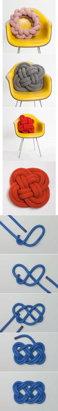 DIY Knot Pillow DIY Projects | UsefulDIY.com