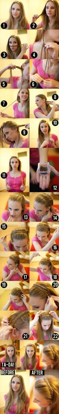 DIY Braid Headband Hairstyle DIY Fashion Tips | DIY Fashion Projects