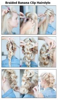 DIY Braided Banana Clip Hairstyle DIY Fashion Tips   DIY Fashion Projects