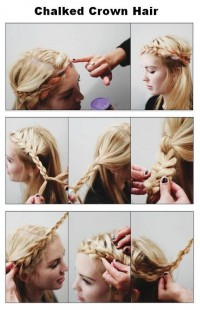 DIY Chalked Crown Hair Hairstyle DIY Fashion Tips | DIY Fashion Projects