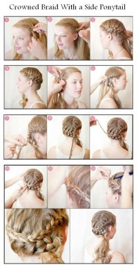 DIY Crowned Braid With a Side Ponytail Hairstyle DIY Fashion Tips | DIY Fashion Projects