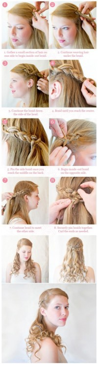 DIY Inside-Out Half Up Braid Hairstyle DIY Fashion Tips | DIY Fashion Projects