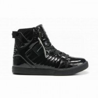 womens all black supra skytop high tops leather sneakers