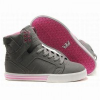 womens pink grey supra skytop high tops shoes