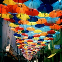 Colorful Umbrellas in Portugal – Fubiz™