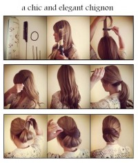 DIY A Chic and Elegant Chignon Hairstyle DIY Fashion Tips | DIY Fashion Projects
