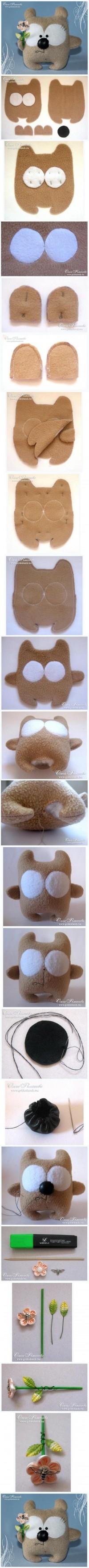 DIY Cute Little Fabric Bear DIY Projects | UsefulDIY.com