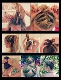 DIY Easy French Braid Bun Hairstyle DIY Fashion Tips | DIY Fashion Projects