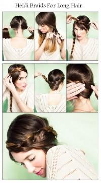 DIY Heidi Braids For Long Hair Hairstyle DIY Fashion Tips   DIY Fashion Projects
